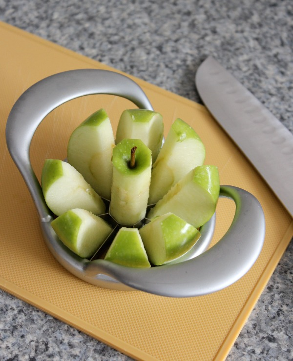 Sliced Apple Using Apple Slicere