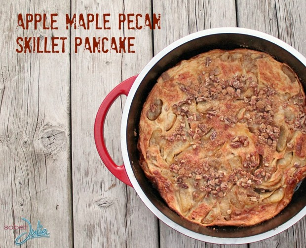 Apple Maple Pecan Skillet Pancake by Sober Julie