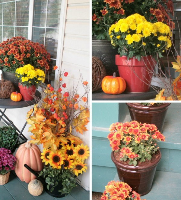 Fall Porch Decorating - Echoes of Laughter