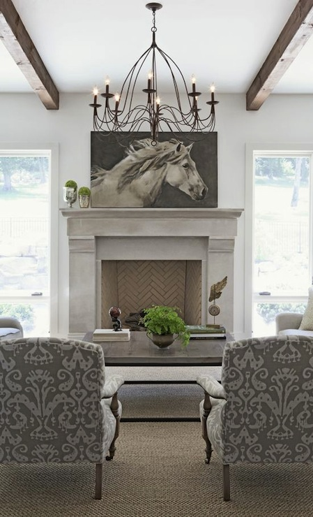 Oversized Art in Living Room - Rachel Halvorson Design