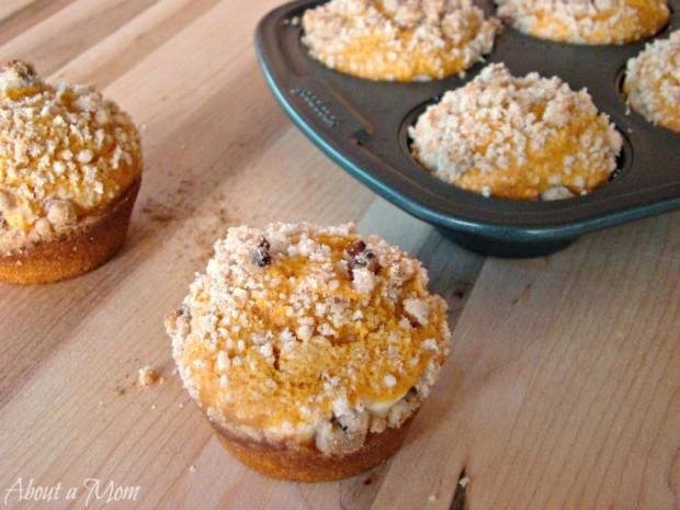 Pumpkin Cream Cheese Muffin Recipe by About a Mom