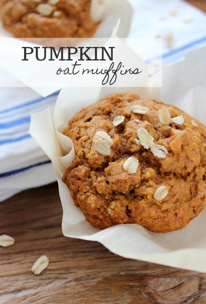Homemade Pumpkin Oat Muffins