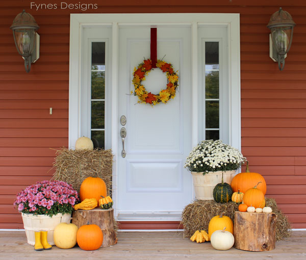 Fall Front Porch Decorating Ideas by Fynes Designs