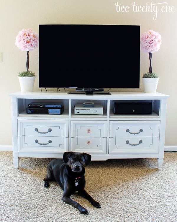 Repurposing an Old Dresser into a TV Stand - Two Twenty One