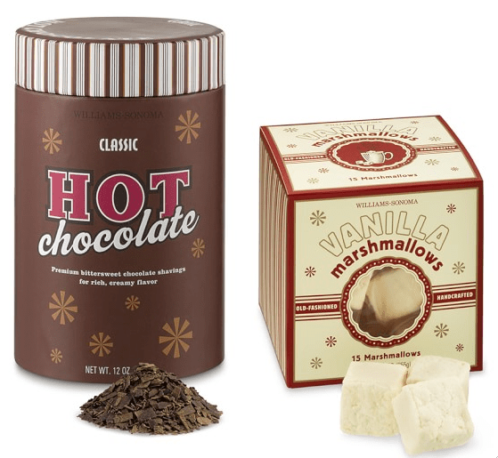 Holiday Hostess Gifts - Classic Hot Chocolate and Marshmallows