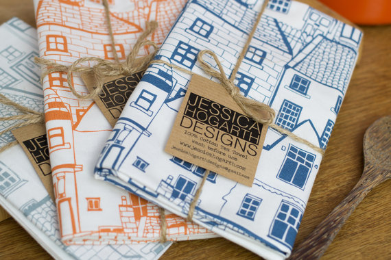 Holiday Hostess Gifts - Coastal Cottages Tea Towels