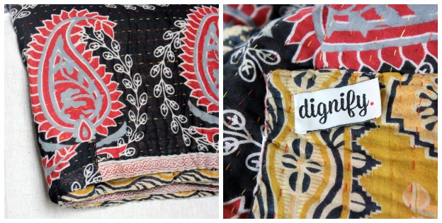 Kantha Throw from Dignify - Hand Stitched Quilt - Gift Idea