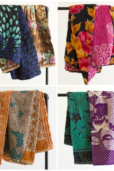 Kantha Throws from Dignify - Our Favorite Things Giveaway!
