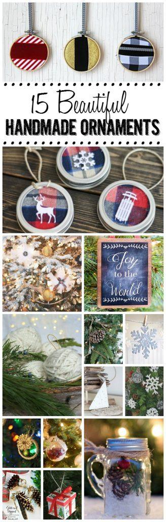 15 Beautiful Handmade Christmas Ornaments