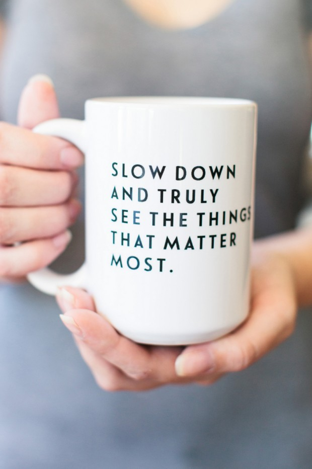Tomkat Studio Slow Down Mug