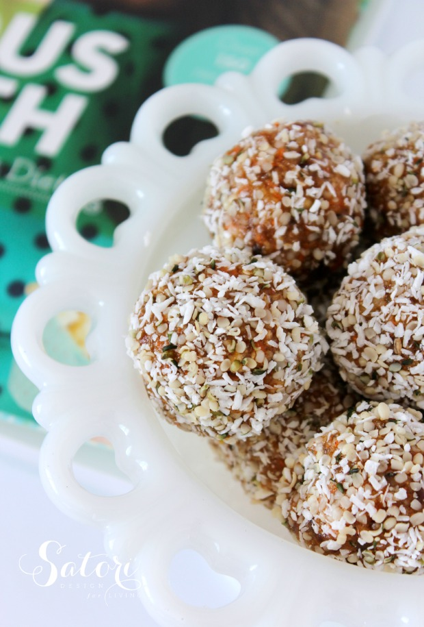 Healthy Recipe Love - Joyous Health Raw Carrot Cake Balls - Satori Design for Living