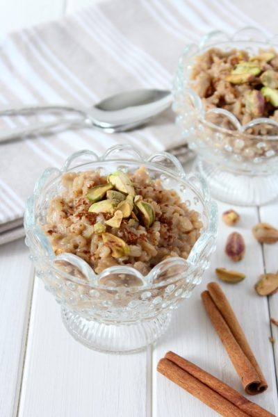 Healthy Dessert - Chai Spiced Brown Rice Pudding | Satori Design for Living
