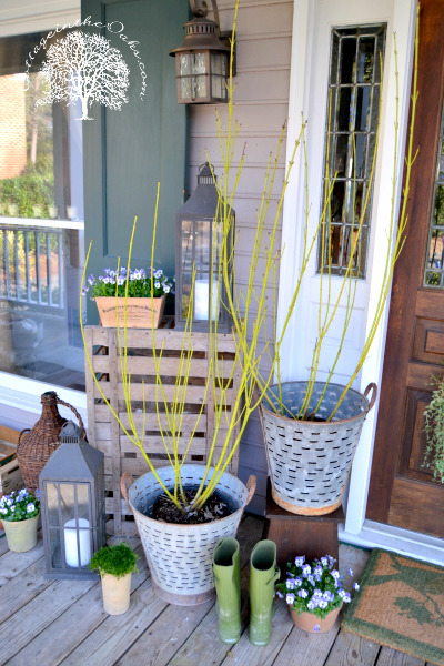 Spring Decorating Ideas: Front Porch by Cottage in the Oaks