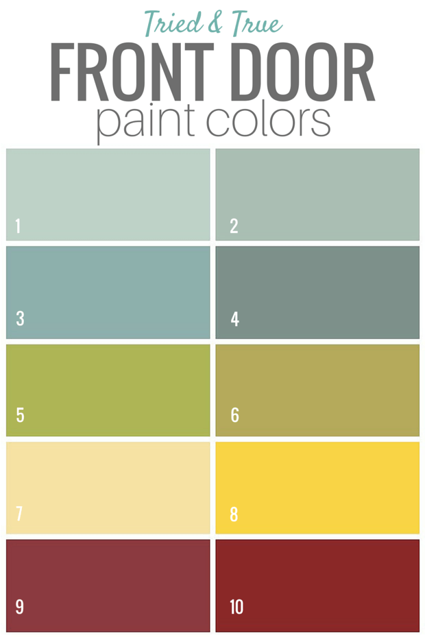 Tried and True Front Door Paint Colors - Satori Design for Living