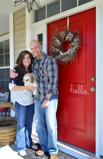 Benjamin Moore Heritage Red Front Door via Young House Love