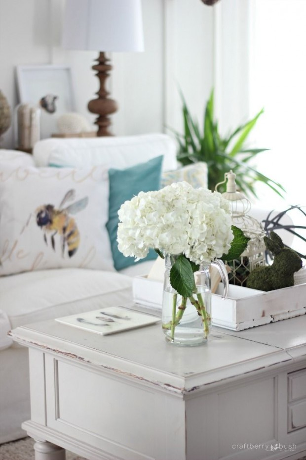 Spring Decorating Ideas: Living Room by Craftberry Bush
