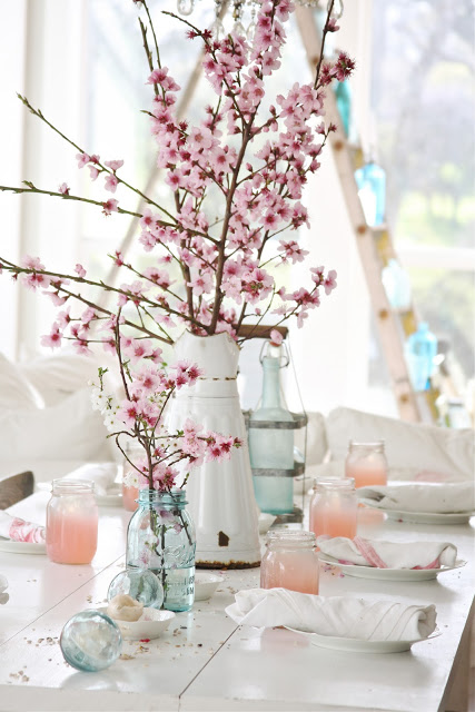 Spring Decorating Ideas: Spring Tablescape by Dreamy Whites