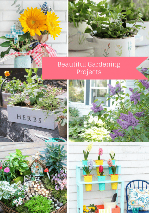 6 Beautiful Gardening Projects for the Outdoor Extravaganza - Come get inspired at SatoriDesignforLiving.com