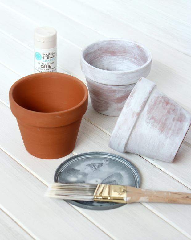 How to Age Terracotta Pots Using Paint - Satori Design for Living