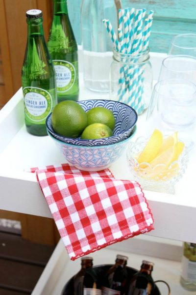 Ikea Hack Bar Cart for Outdoor Entertaining
