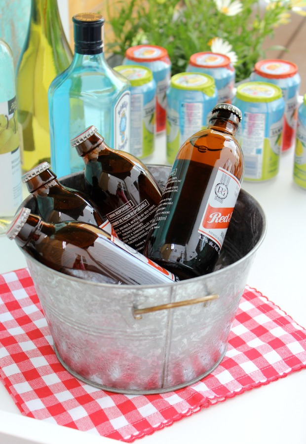DIY Summer Bar Cart with Ice Cold Drinks