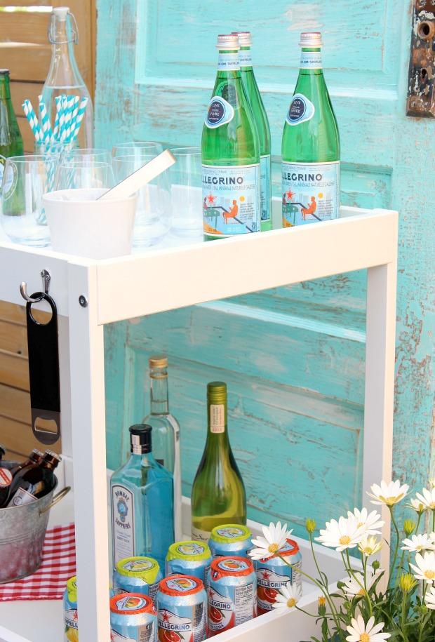 DIY Ikea Bar Cart Hack Using Thrifted Baby Change Table - Satori Design for Living