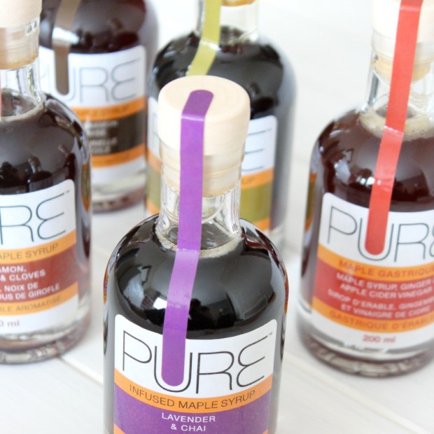 PURE Infused Maple Syrup in Pretty Glass Bottles