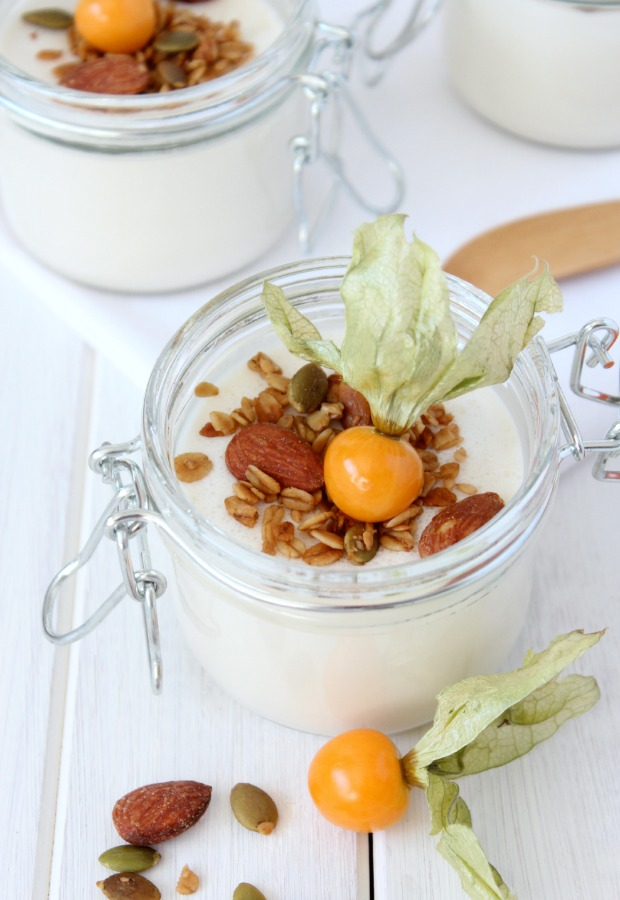 Yogurt Panna Cotta with Crunchy Maple Topping - Brunch Recipe by Satori Design for Living