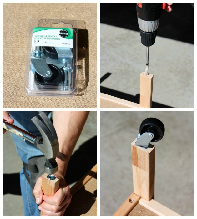 IKEA Hack Bar Cart - How to Add Casters to a Cart - Satori Design for Living