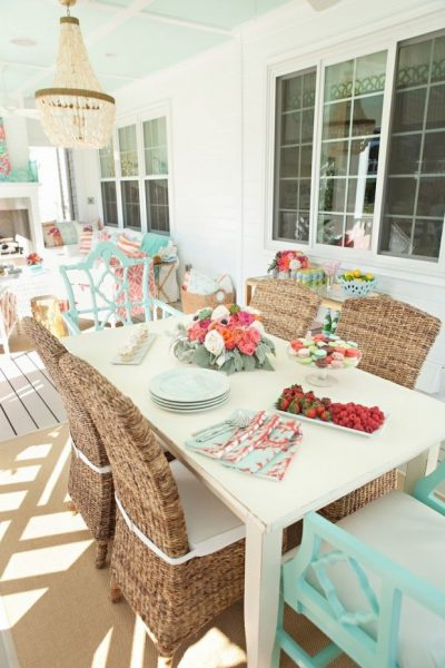 Colorful Outdoor Living Space - Krista Salmon via Kiki's List