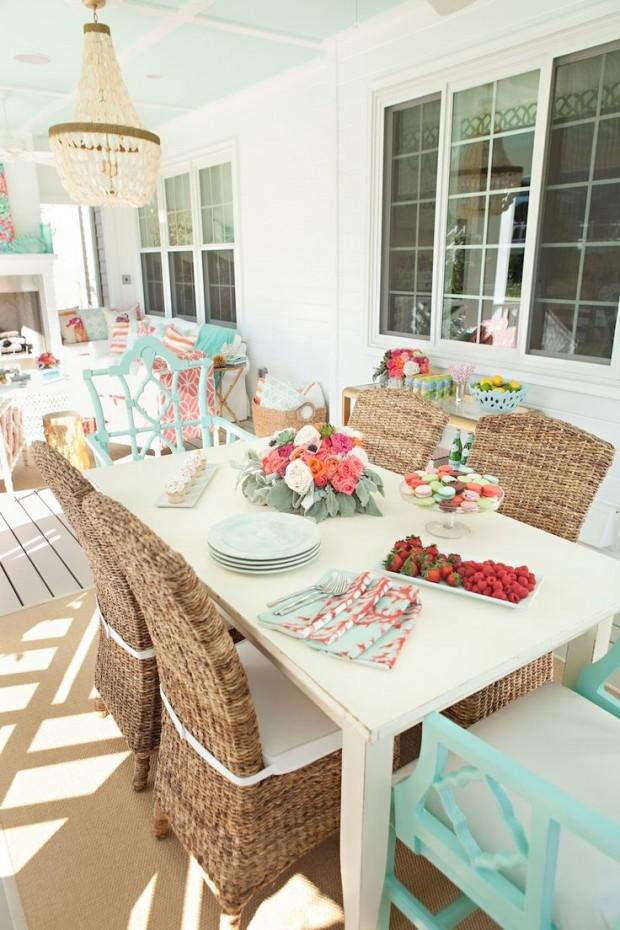 Colourful Outdoor Living Space via Kiki's List