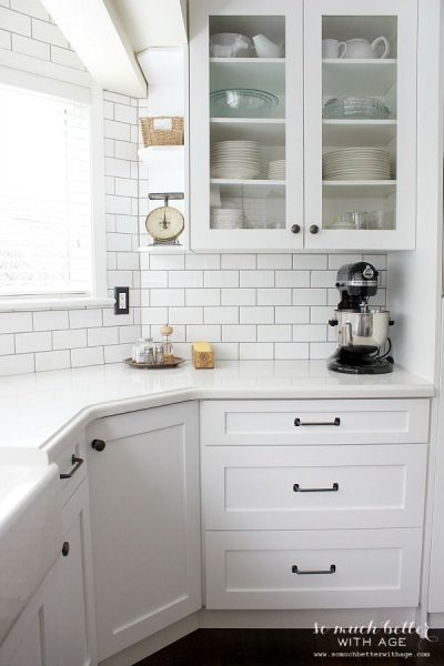 White Kitchen Makeover by So Much Better with Age