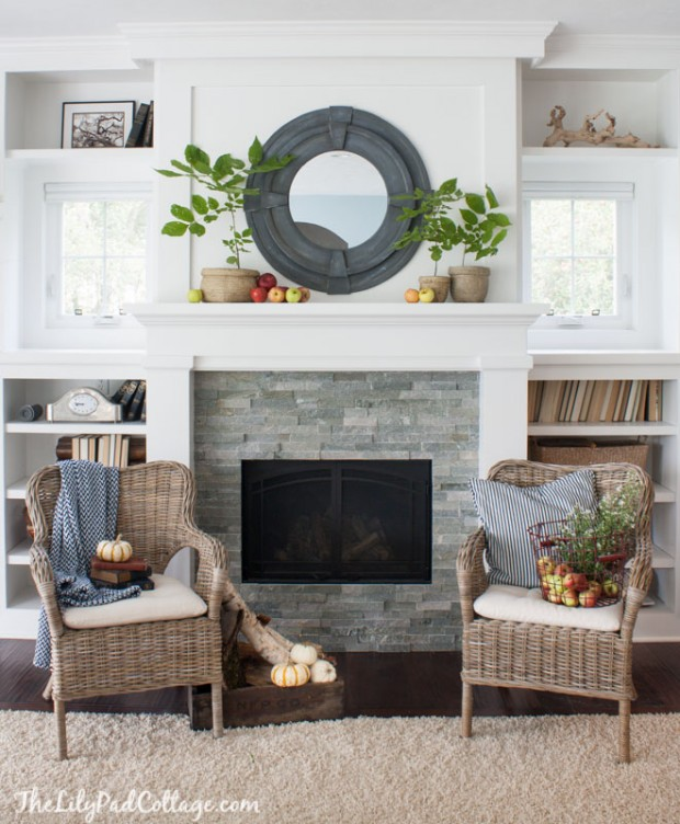 Fireplace Makeover Inspiration | White Mantel | The Lily Pad Cottage