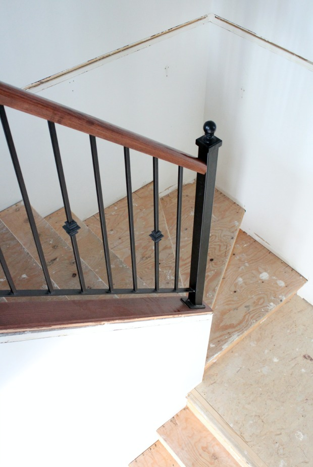 Wrap Around Staircase Makeover Progress - Satori Design for Living