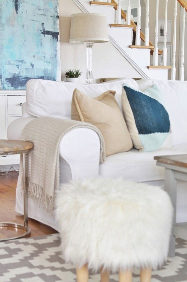 Summer Decorating Ideas - Light and Airy Living Room by City Farmhouse