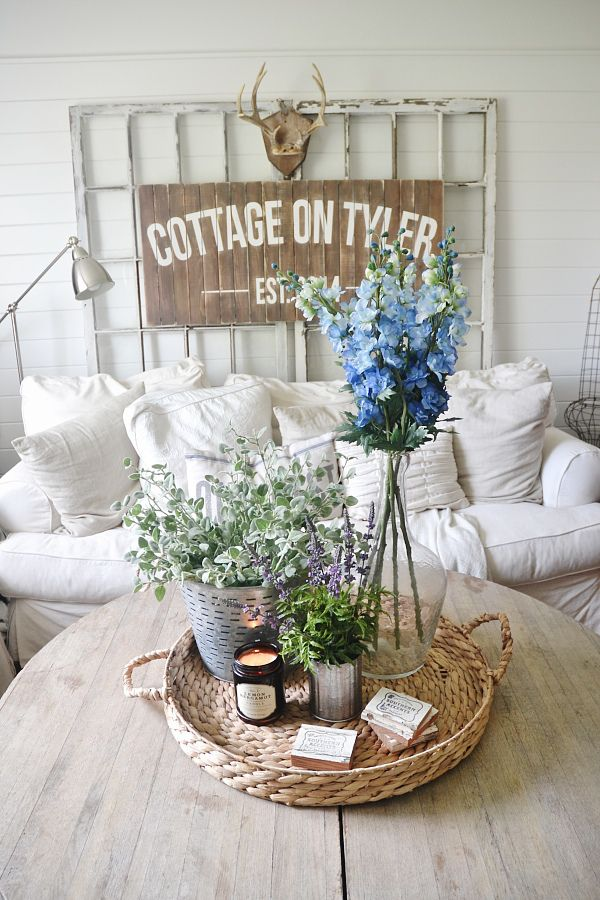Summer Decorating Ideas - Simple Decor by Liz Marie Blog