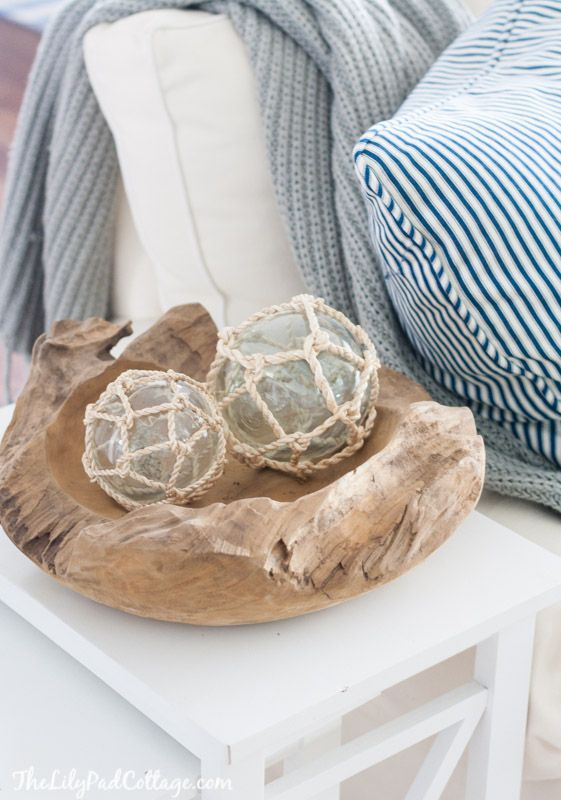 Summer Decorating Ideas - Seaside Decor by The Lily Pad Cottage