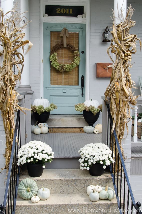 Fall Front Porch Decorating Ideas - Home Stories A to Z