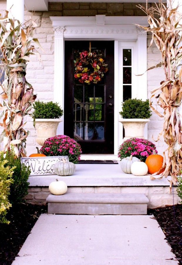 Fall Front Porch Decorating Ideas - The Yellow Cape Cod