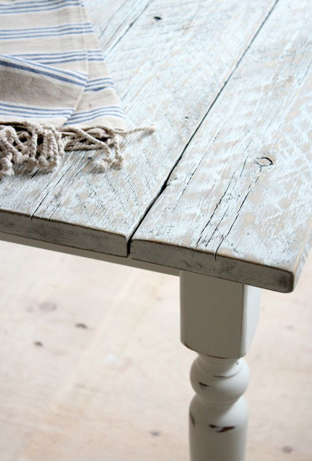 DIY Salvaged Wood Farmhouse Table Project