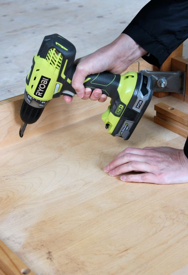 Ryobi Drill Removing Screws from Dining Table