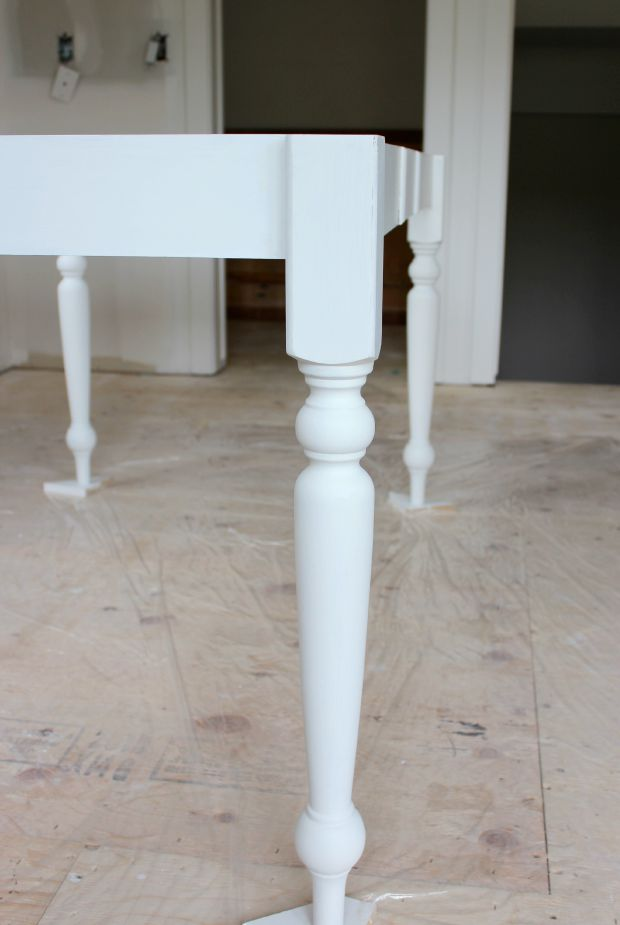How to Transform an Old Table in to a Salvaged Wood Farmhouse Table with White Wash Finish