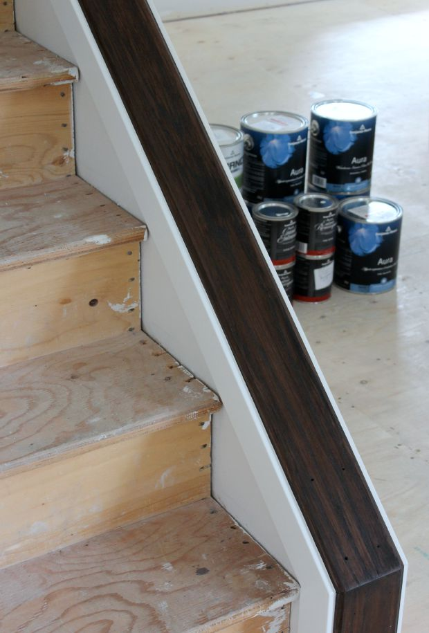 Staircase Update - How to Change Stain Color on Stairs - Minwax Espresso