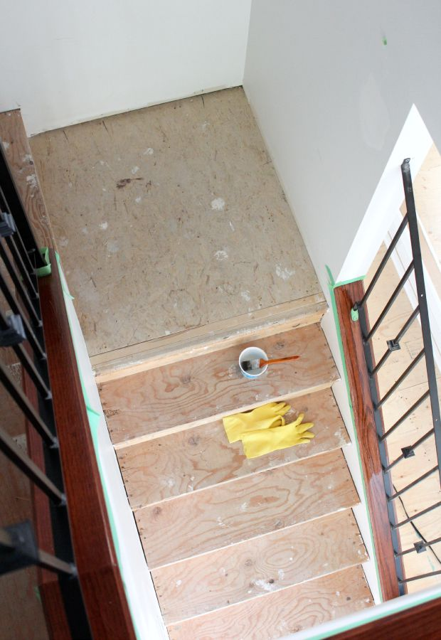 Carpet to Hardwood Staircase Makeover Update - Steps to Stripping Staircase
