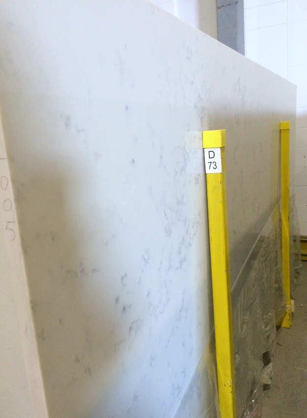 TCE Stone 4005 Marble Quartz Countertop - Our Kitchen Renovation - Satori Design for Living