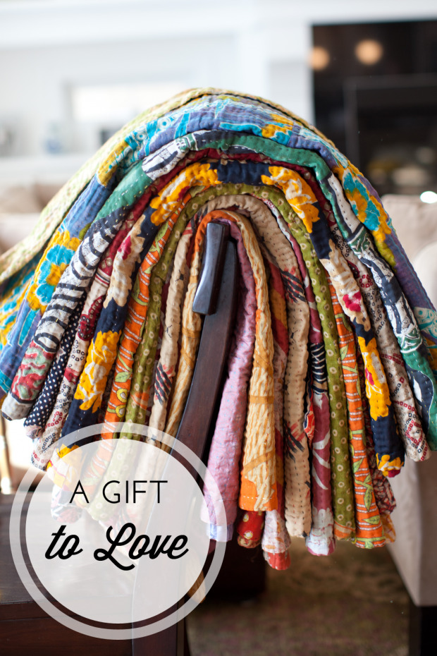 Cotton Kantha Throws from Dignify