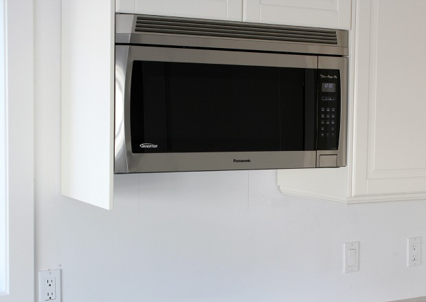 Panasonic Genius Prestige Plus Over-the-Range Microwave Oven - Kitchen Makeover by Satori Design for Living