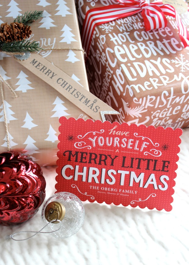 Merry Little Christmas Card from Tiny Prints - Satori Design for Living