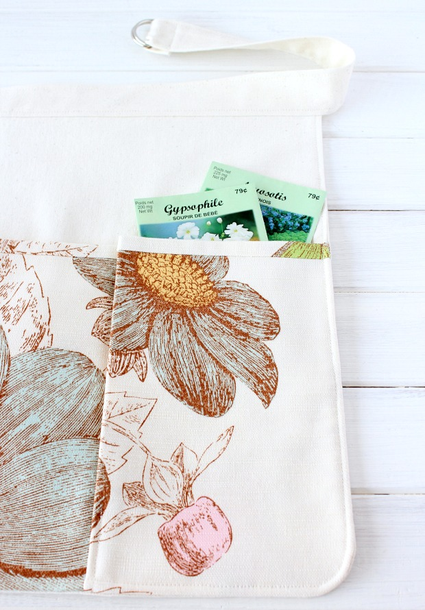Garden Apron How-to with Front Floral Pockets