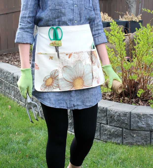 How to Sew a Gardening Apron - DIY Garden Apron - Satori Design for Living